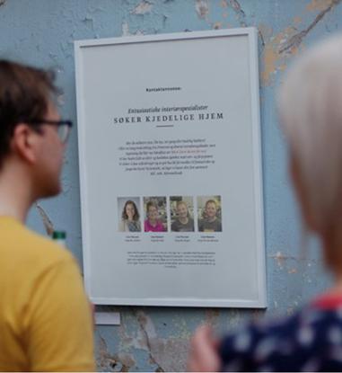 """Bilde av Fargerike Hjemmebesøk """"Vi søker"""" A3 Plakat 3 stk"""